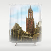 Church @ Lille, France Shower Curtain by Webgrrl | Society6