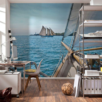 I liked this design on #Fab. Sailing Wall Mural