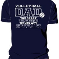 Midwest Volleyball Warehouse - Dad With Wallet T-shirt