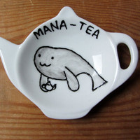 Mana-tea Tea Bag Tidy - Manatee - Spoon Rest