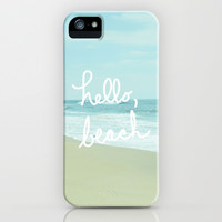 Hello, Beach iPhone & iPod Case by Avenue L Designs | Society6