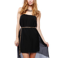 Papaya Clothing Online :: CHAIN BELT CHIFFON DRESS