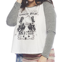 Young & Wild Raglan Tee | Wet Seal +