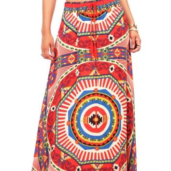 Geo Envy Maxi Skirt | Trendy Skirts at Pink Ice