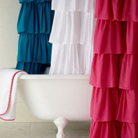 India Rose - Ruffle Shower Curtain - Horchow