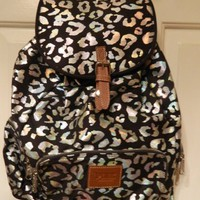 Victoria's Secret Pink Leopard Cheetah Backpack Bookbag Bag