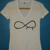 forever young infinity tshirt by maacbeth on Etsy
