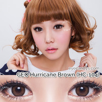 FREE SHIP ☆ GEO Hurricane Brown Circle Lens Colored Contacts from EyeCandy's - Color Circle Lens