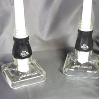 Jack Daniels Candle Stick Holders, Unique Candle Stick Holders, Set of 2