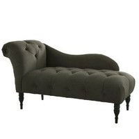 Skyline Furniture Tufted Fainting Sofa, Velvet Pewter