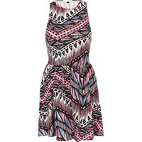 pink aztec print racer back dress River Island