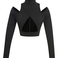 Emboss Croc Cut Out Top by Jonathan Simkhai - Moda Operandi