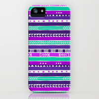 Purple Mint Pink Urban Tribal Pattern iPhone & iPod Case by hyakume
