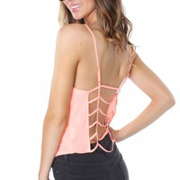 Caged Crop Tank Coral
