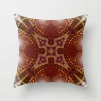 geometry mandala | earth lights Throw Pillow by Webgrrl | Society6