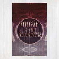 music is my happiness | music theme Area & Throw Rug by Webgrrl | Society6