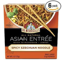 Dr. McDougall's Right Foods Asian Entree, Spicy Szechuan Noodle, 2-Ounce Packages (Pack of 6)