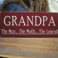 Grandpa Wood Sign Fathers Day | CountryWorkshop - Folk Art & Primitives on ArtFire