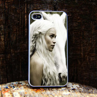 Daenerys Targaryen White iphone 4 case,iphone 4S case,iPhone 5C case,iPhone 5S case,iphone 5 case,samsung s4 case, Samsung s3 case