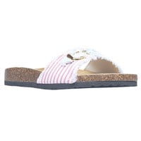 Americana Canvas Strap Slip-On Flat Sandals | Wet Seal