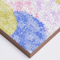 Fields Of Hydrangeas Wood Print