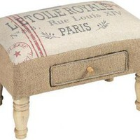 Feedsack Foot Stool - Ottomans -  Living Room Furniture -  Furniture | HomeDecorators.com