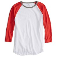 AEO FACTORY RINGER BASEBALL T-SHIRT