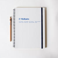 Rollbahn Spiral X-LARGE Notebook - White