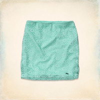 Hollister Natural Waist Lace Bodycon Skirt
