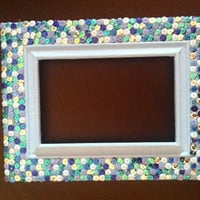 Sequins picture frame, 4 x 6
