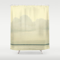 White Wall Shower Curtain by RichCaspian | Society6