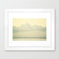 White Wall Framed Art Print by RichCaspian | Society6