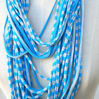 Free SHIPPINGSummer Scarf Jersey Infinity Blue Infinity by PIYOYO