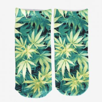 Plant Life Socks - One Size / Green