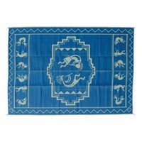 Ming's Mark KO3 9 X 12 Blue and Green Kokopelli Mat
