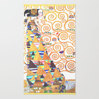Love & Expectation - Gustav Klimt Area & Throw Rug by BeautifulHomes | Society6