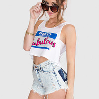 Hello! I'm Fabulous Crop Top - White
