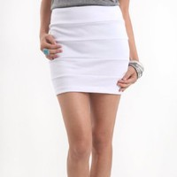 Nollie Womens Panel Body Con Skirt