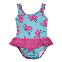 i play. Baby-Girls Infant Ultimate Swim Diaper Skirty Aqua Flamingo Tanksuit
