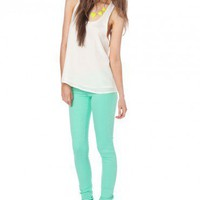 Taylor Colored Skinnies in Cool Jade - ShopSosie.com