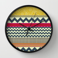 New York Beauty stripe Wall Clock by Sharon Turner | Society6