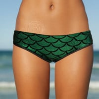 BRAND NEW Green Mermaid low cut lace trim bikini bottoms
