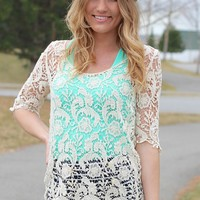Ivory Crochet Spring Sweater