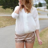 Ivory Cropped Pleated Blouse