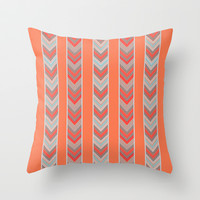 Chevron Stripes Throw Pillow by Whitney Werner