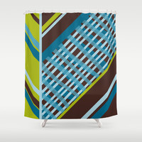 Amalfi Fusion Shower Curtain by Ramon Martinez Jr