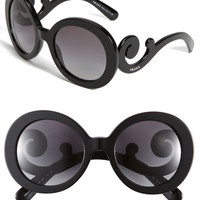 Prada 'Baroque' 55mm Round Sunglasses | Nordstrom