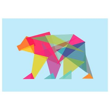 I liked this design on #Fab. Fractal Geometric Bear Canvas