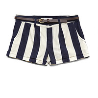 Beachy Striped Linen-Blend Shorts (Kids)