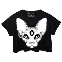 Third Eye Crop Top [B] | KILLSTAR